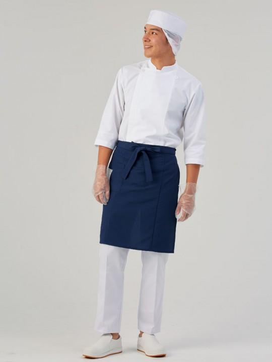 清潔感のある調理服スタイル
