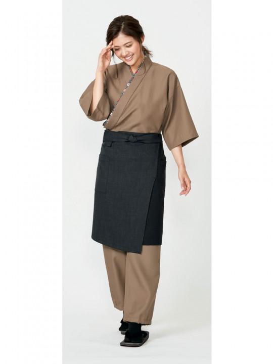 替え衿でおしゃれを楽しむ作務衣スタイル