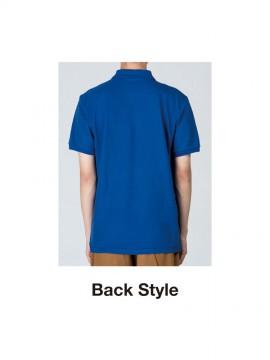 WE-00100-VP T/Cポロシャツ(ポケット付) バックスタイル