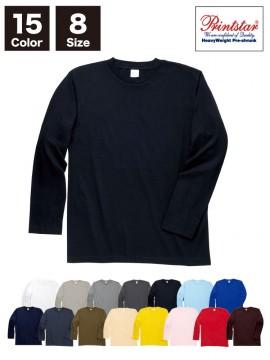 WE-00101-LVC 5.6オンス ヘビーウェイト長袖リブ無しカラーTシャツ