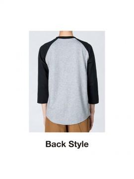 00138-RBB 5.6オンス ラグランベースボールTシャツ バックスタイル