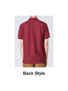 WE-00141-NVP 5.8オンス T/Cポロシャツ(ポケット無し) バックスタイル