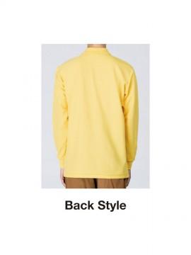 WE-00169-VLP 5.8オンス T/C長袖ポロシャツ(ポケット付) バックスタイル