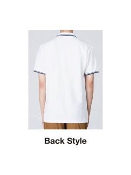 WE-00191-BLP 5.8オンス ベーシックラインポロシャツ バックスタイル