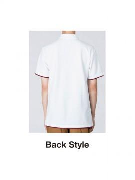 WE-00195-BYP 5.8オンス ベーシックレイヤードポロシャツ バックスタイル