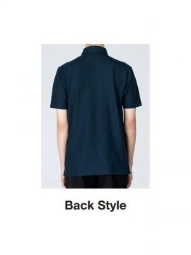 WE-00197-BDP 4.9oz ボタンダウンポロシャツ バックスタイル