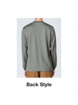 WE-00304-ALT 4.4オンス ドライロングスリーブTシャツ バックスタイル