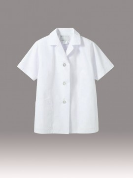 CK-1002 調理衣(半袖) 拡大画像 白