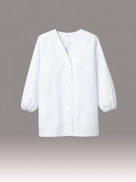 CK-1011 調理衣(長袖ゴム入) 拡大画像 白