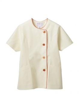 CK-1046 調理衣(半袖) 拡大画像 クリーム/オレンジ