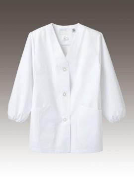 CK-1411 調理衣(長袖ゴム入) 拡大画像 エコ認定商品