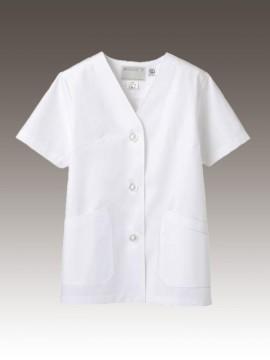 CK-1412 調理衣(半袖) 拡大画像 白 エコマーク認定商品