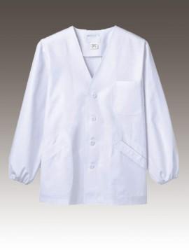 CK-1611 調理衣(長袖ゴム入) 拡大画像