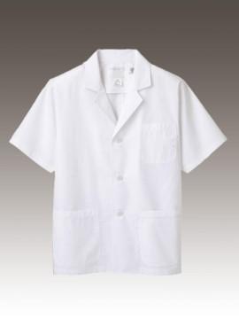 CK-1802 調理衣(半袖) 拡大画像 エコマーク認定商品 前立てボタン比翼仕様