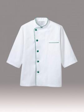 CK-6511 調理コート(男女兼用・七分袖) 拡大画像