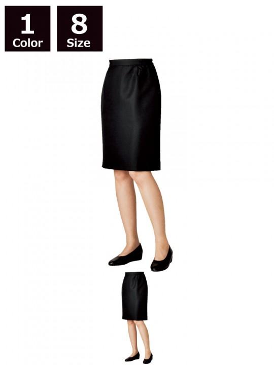 CK-7201 スカート(レディス・両脇ゴム) 黒スカート