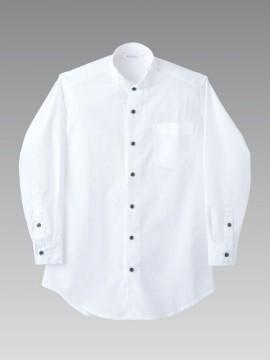 CKBS25612 ウイングカラーシャツ(男女兼用・長袖) 拡大画像