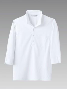 MC2711 ニットシャツ(男女兼用・7分袖) 拡大画像