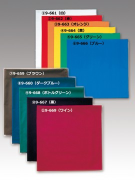 CK9661 四角巾(男女兼用) カラー一覧