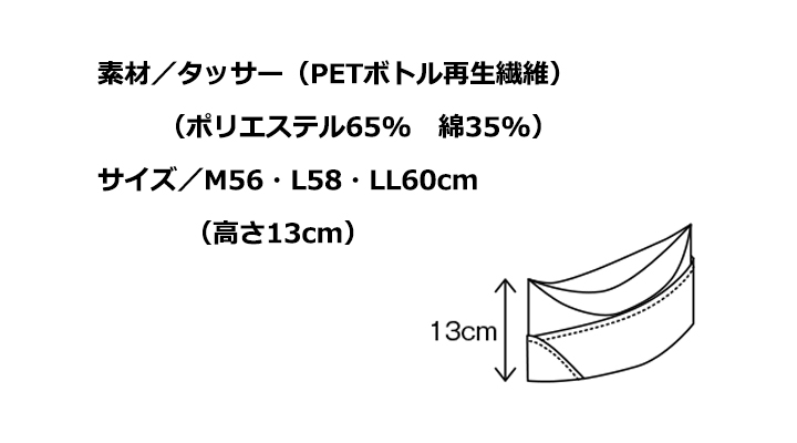 CK9815 GI帽(男女兼用) サイズ一覧