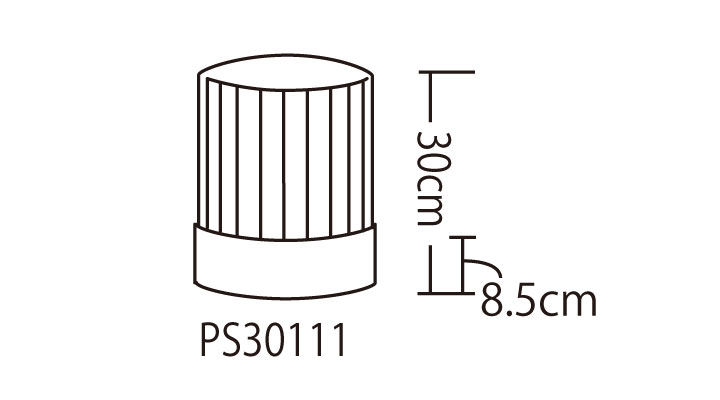 PS30111 コック帽(男女兼用・10枚入り) サイズ一覧