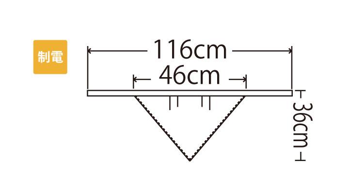 MC221 三角巾 サイズ一覧
