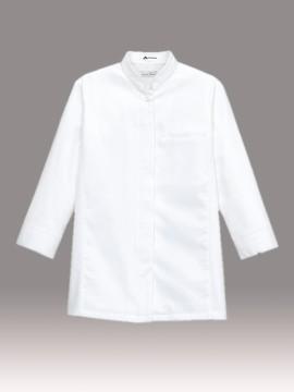 BM-FB4010L レディススタンドコックシャツ ホワイト 白 ユニセックス
