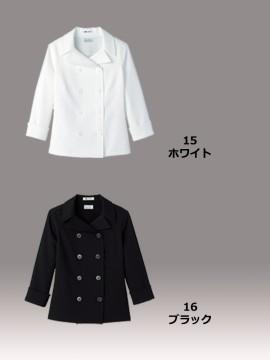 BM-FB4013L  レディスコックシャツ 黒 白