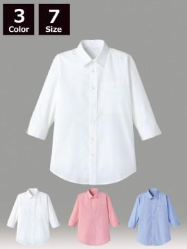 FB561U マイクロチェック七分袖シャツ
