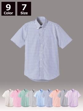 BM-FB4507U グラフチェック半袖シャツ(男女兼用) ユニセックス