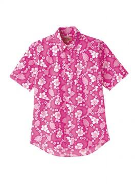 アロハシャツ(プチハイビスカス柄) ピンク