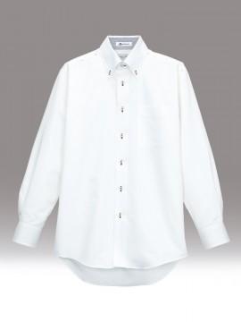 BM-FB5010M メンズ吸汗速乾長袖シャツ 拡大画像 ネイビー