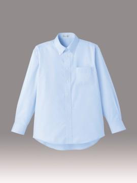 BM-FB5015M メンズ吸汗速乾長袖シャツ 拡大画像 ブルー