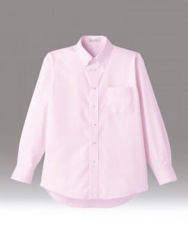 BM-FB5015M メンズ吸汗速乾長袖シャツ 拡大画像 ピンク