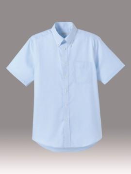 BM-FB5016M メンズ吸汗速乾半袖シャツ 拡大画像 ブルー
