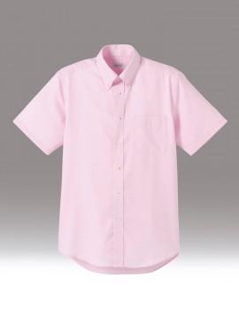 BM-FB5016M メンズ吸汗速乾半袖シャツ 拡大画像 ピンク