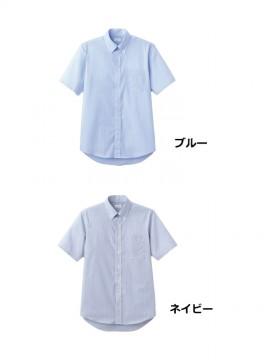BM-FB5018M メンズ吸汗速乾半袖シャツ カラー一覧 ブルー ネイビー