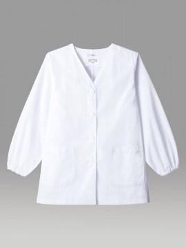 ARB-AB6403 白衣(レディス・長袖) 拡大画像