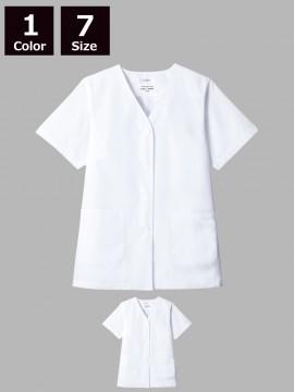 ARB-AB6405 白衣(レディス・半袖)