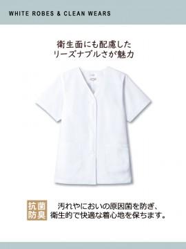 白衣(レディス・半袖)