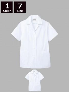 ARB-AB6409 白衣(レディス・半袖)