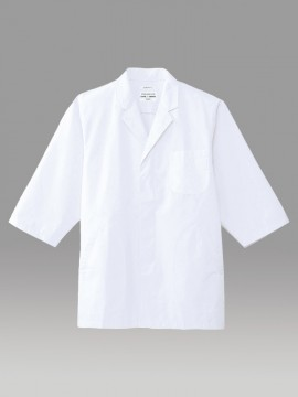 ARB-AB6507 白衣(メンズ・七分袖) 拡大画像