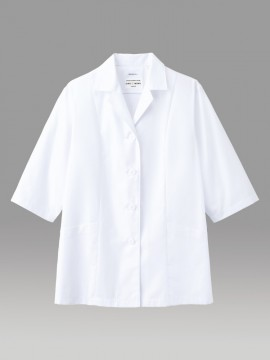 ARB-AB7711 白衣(レディス・七分袖) 拡大画像