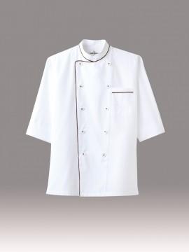 ARB-AS7609 コックシャツ(男女兼用・七分袖) 拡大画像