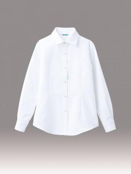 ARB-BC6912 シャツ(レディス・長袖) 拡大画像・ホワイト