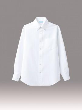 ARB-BC6918 ボタンダウンシャツ(メンズ・長袖) ホワイト 白