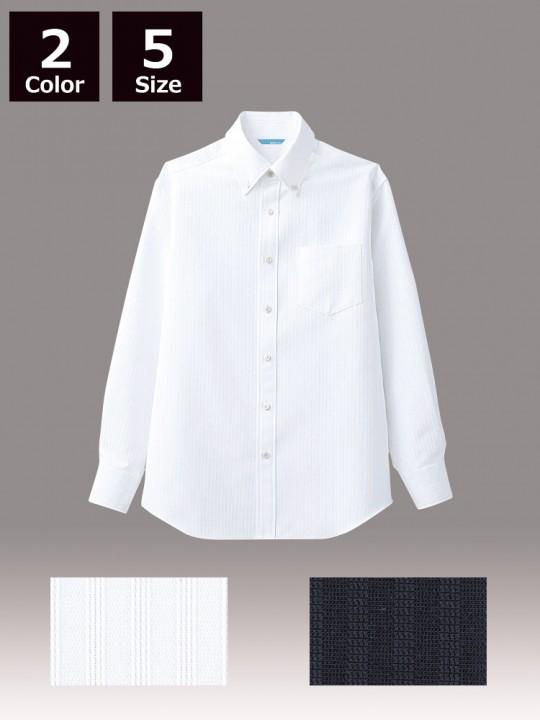 ARB-BC6918 ボタンダウンシャツ(メンズ・長袖) ホワイト