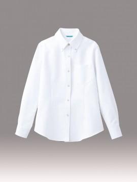 ARB-BC6920 ボタンダウンシャツ(レディス・長袖) 拡大画像・ホワイト