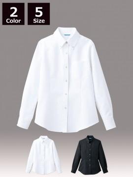 ARB-BC6920 ボタンダウンシャツ(レディス・長袖)