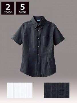 ARB-BC6921 ボタンダウンシャツ(レディス・半袖) トップス